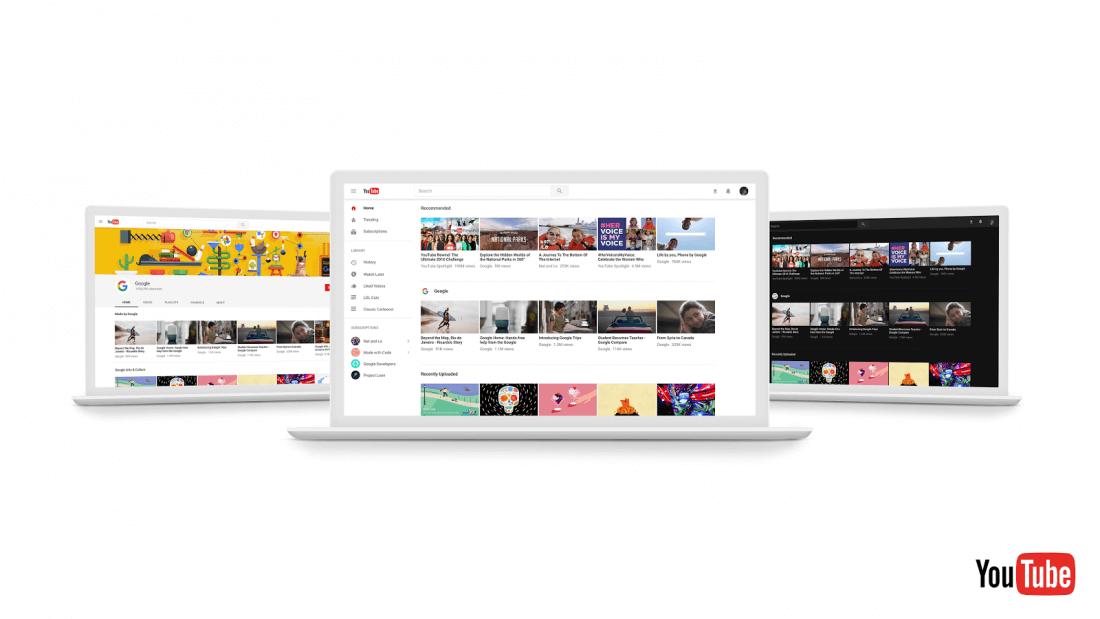 YouTube New ดีไซน์หน้าเพจใหม่ที่สวยขึ้น ดูง่ายขึ้นและมาพร้อมดาร์กโหมด