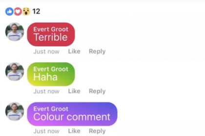ไฉไลกว่าเดิม! Facebook ทดสอบความคิดเห็นแบบไล่สี Ombré