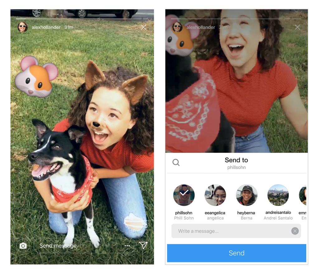 ใหม่!!! แบ่งปันเรื่องราวใน Instagram Stories ที่สามารถแชร์ไปยัง Direct ได้เลยทันที