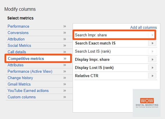 search impressions share คืออะไร