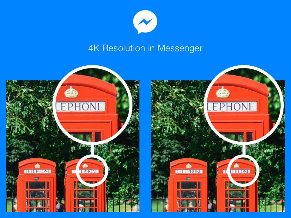 """""""ถึงภาพจะเบลอ แต่หน้าเธอชัดเจน"""" Facebook Messenger เพิ่มรูปภาพให้มีความละเอียดสูงสุดถึง 4K"""