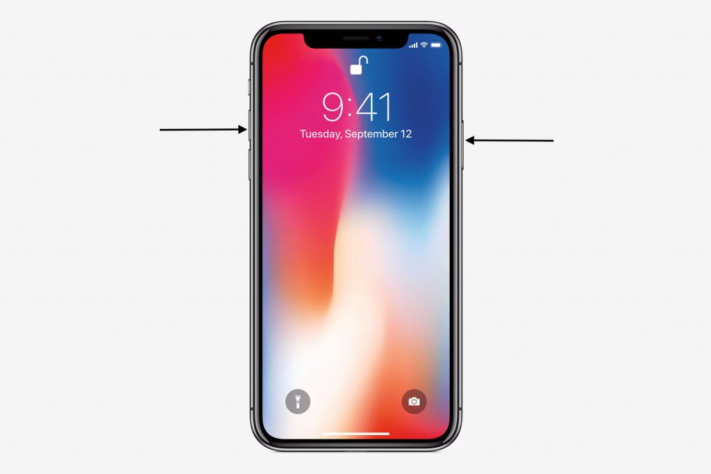 iPhone X แคปหน้าจอ