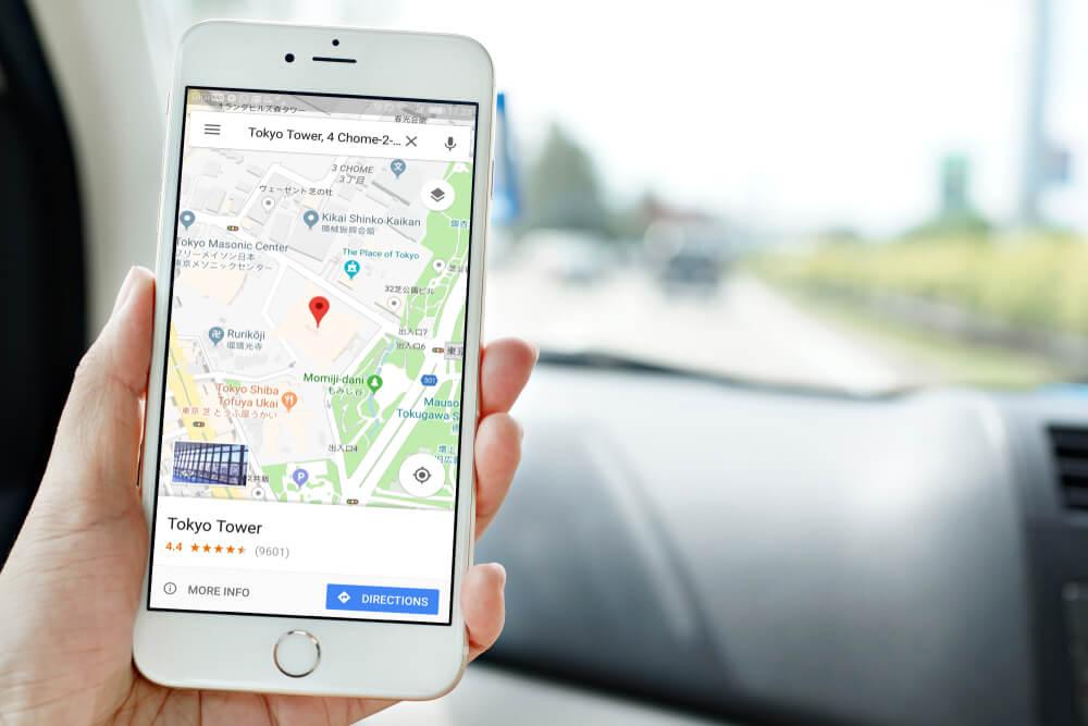 Google Maps วัดความเร็วรถ
